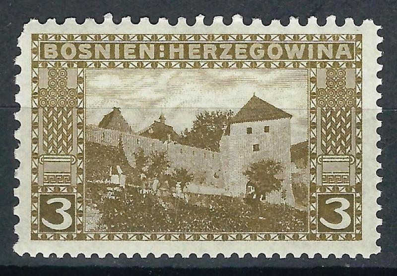 OLD AUSTRIA BOSNIA 1906. 3 heller MIXED PERFORATION 9x10x9x12  MINT HINGED