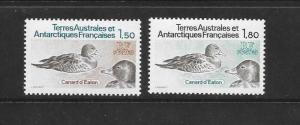 BIRDS  - FRENCH SOUTHERN ANTARCTIC TERRITORIES #101-2   MNH