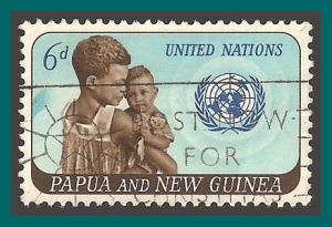Papua New Guinea 1965 United Nations, 6d used  206,SG79
