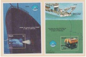 Palau Scott #459-460 Stamps - Mint NH Souvenir Sheet