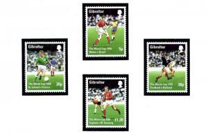 Gibraltar 746-49 MNH 1998 World Cup Soccer