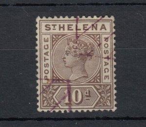 St Helena QV 1890 10d Brown SG52 VFU Cat £70 JK795