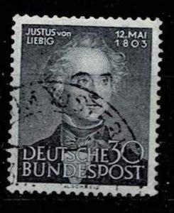 Germany 1953,Sc.#695 used, Justus von Liebig, 150. birthday