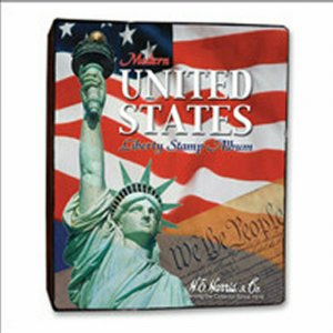 HE HARRIS Modern US LIBERTY STAMP ALBUM 2.5 inch 3-RING VINYL Binder ONLY