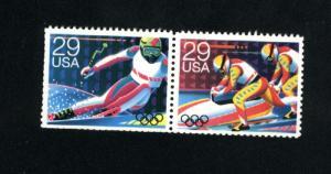 USA #2614-15   used pair 1992 PD .16