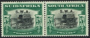 SOUTH WEST AFRICA 1927 OX WAGON 5/- PAIR
