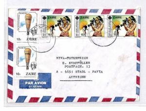 CM349 *ZAIRE* Missionary Air Mail MIVA Austria Cover