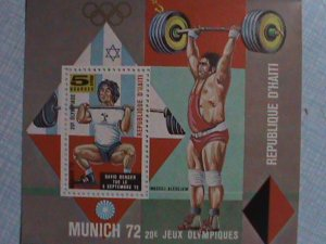 1972 REPUBLIC OF HAITI: MUNICH'72 OLYMPIC SOUVENIR SHEET