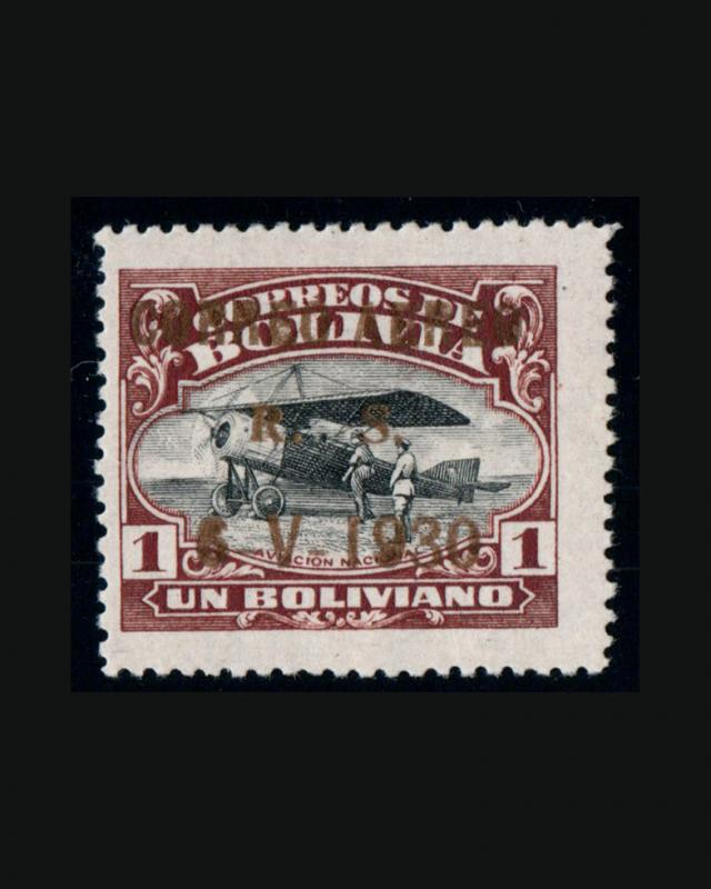 VINTAGE: BOLIVIA OG PH 1930 SCOTT #C18 $995  LOT BO1930B