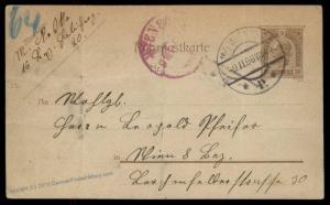 Austria 1906 Empire 20H MiRP22 Rohrpost Pneumatic Mail Cover 90201