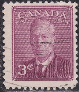 Canada 286 USED - 1949 King George VI Postes-Postage 3¢
