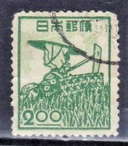 JAPAN SCOTT# 425  1948-49  2y   FARM WOMAN  SEE SCAN