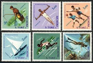 St Thomas & Prince Islands 374-379, Mint. Sports:Angling,Gymnast,Handball, 1962