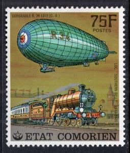 Comoro Islands 250 Train Zeppelin MNH VF