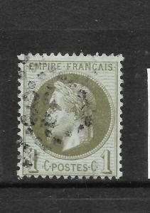 FRANCE 1863-70  1c   NAPOLEON   FU   SG 103