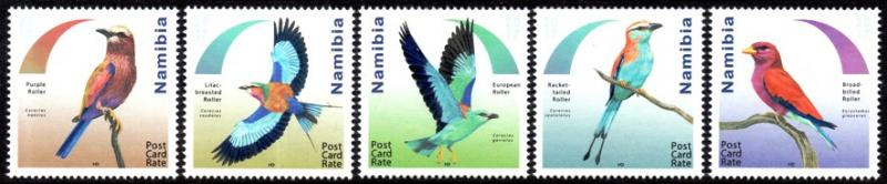 Namibia - 2017 Rollers Birds Set MNH**