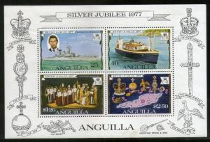 Anguilla 1977 Silver Jubilee Queen Elizabeth II Prince Charles M/s Sc 274a MN...