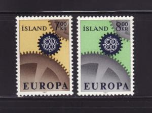 Iceland 389-390 Set MHR Europa (A)