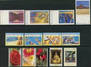 AUSTRALIA Sc#1357-64,1367-89,1389a,1392-6 1994 Year with 13 Sets & 1 S/S OG MNH