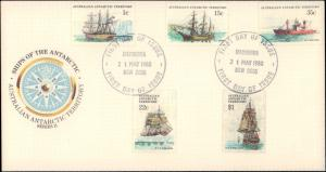 Australian Antarctic Territory, Worldwide First Day Cover, Ships
