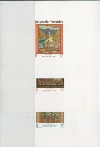 French Polynesia 1988 SG532-534 Tapa Paintings set proofs MNH
