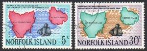 Norfolk Island 1969 125th Anniv. of annexation to Van Diemen's Land used
