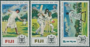 Fiji 1974 SG492-494 Cricket set MLH