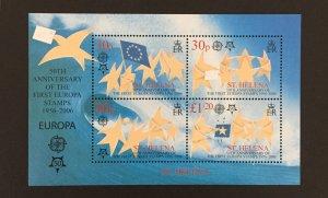 St. Helena 2006 #897a S/S, Europa 50th Anniversary, MNH.
