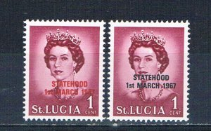 St Lucia 214 MNH Red and black overprints 1967 (HV0126)