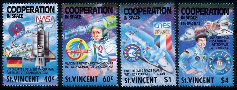 [66158] St. Vincent 1989 Space Travel Weltraum  MNH