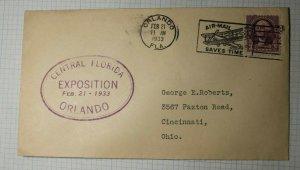 Central Florida Exposition Orlando 1933 Event Cover