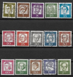 1960-1 Berlin 9N176-90 complete Portraits set in mixed condition