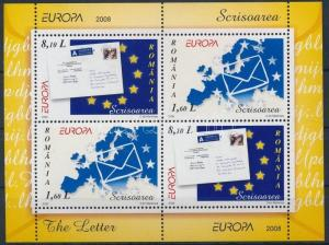 Romania stamp Europa CEPT, letter block MNH 2008 Mi 425 WS190379