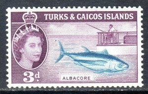 Turks & Caicos  1957   sg 241   3d  -  value   LMM