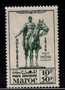 French Morocco Scott CB25 MH* 1946 Airmail semi-postal stamp