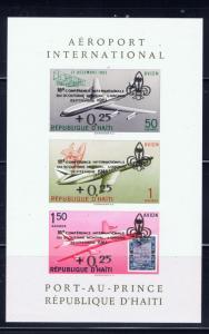 Haiti CB34a MNH 1961 surcharged souvenir sheet