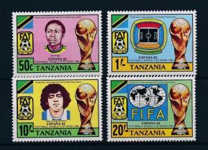 [46412] Tanzania 1982 Sports World Cup Soccer Football Spain Diego Maradona MNH
