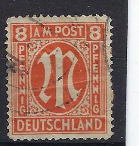Germany AM Post Scott # 3N6b, used