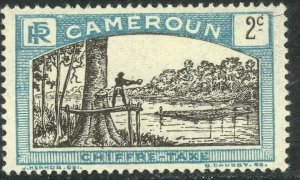 CAMEROUN 1925-27 2c MAN FELLING TREE Postage Due Sc J1 MLH