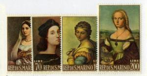 SAN MARINO 550-553 MNH SCV $1.25 BIN $0.70 ART