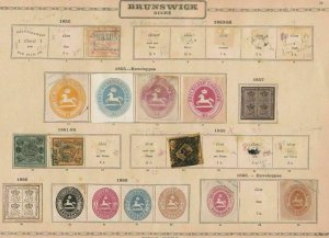 brunswick stamps on 1 page 1852 - 1865 cat £1000 ref r10779
