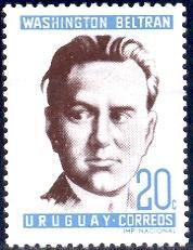 Washington Beltran, Political Leader, Uruguay stamp SC#732 Mint