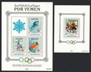 Yemen Winter Olympic Games Sarajevo 2 MSs SG#MS315