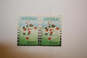 Aruba 1990. 'World Cup'. SG81 Double. UNH