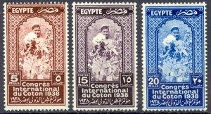 Egypt Sc# 225-227 MH 1938 Cotton Congress