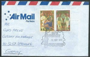 AUSTRALIA 1993 cover to Germany - nice franking - Sydney pictorial pmk.....12806