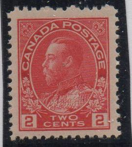 Canada Sc 106 1911 2 c carmine GV Admiral stamp mint NH