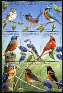 BURKINA FASO 1104a-f MH BLOCK9 SCV $13.50 BIN $6.75 BIRDS
