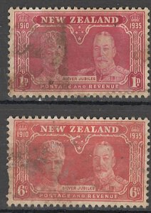 COLLECTION LOT OF #1819 NEW ZEALAND # 200-1 1935 CV+$30 FAULTY