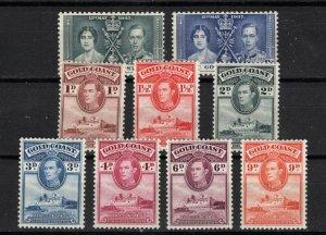 Gold Coast #113/114 &116/122 > Issues of 1937 & 1938 > Unused > SCV $6.15
